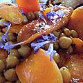 Salade de pois chiches et carottes confites