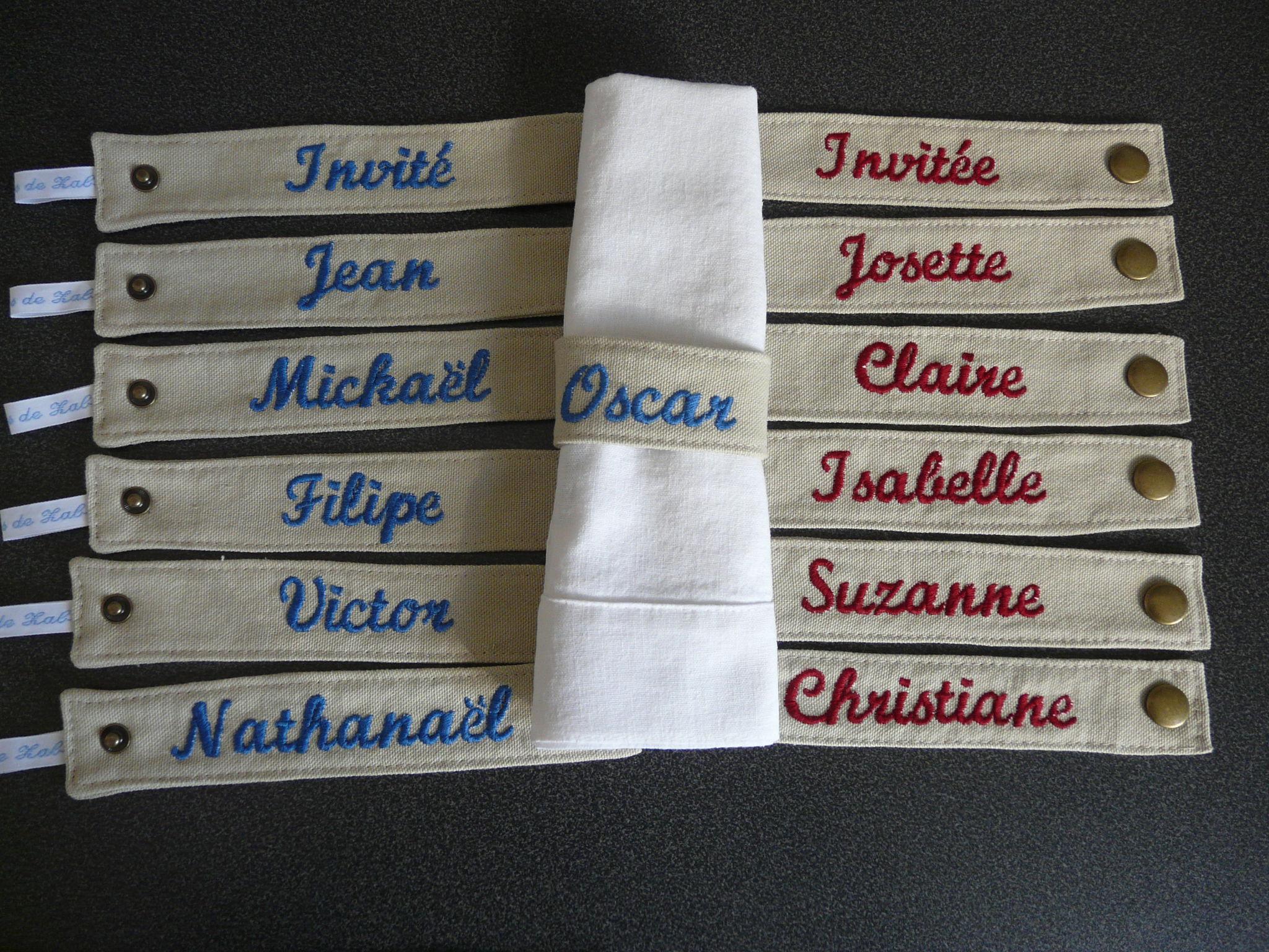 Rond de serviette brodé