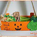 Panier à bonbons pour Halloween