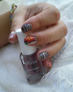 nail art tribal one stroke 2