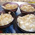 Mousse aux poires et mascarpone
