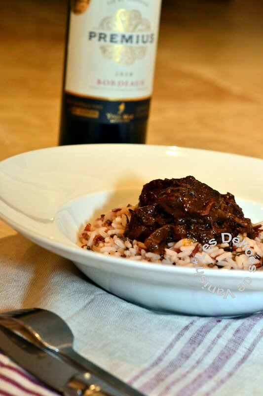 daube provençale, cèpes, champignon, boeuf en sauce, vin rouge