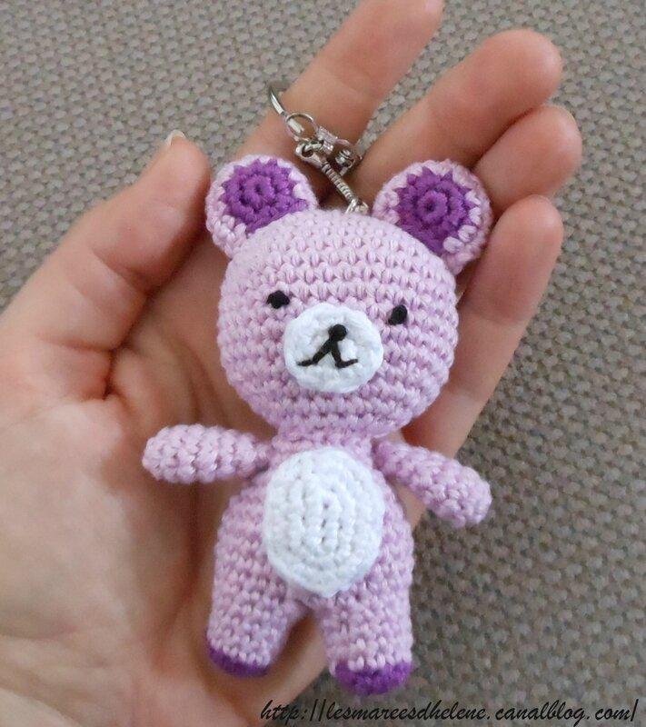 Crochet 2013 - Porte-clé Ourson amigurumi