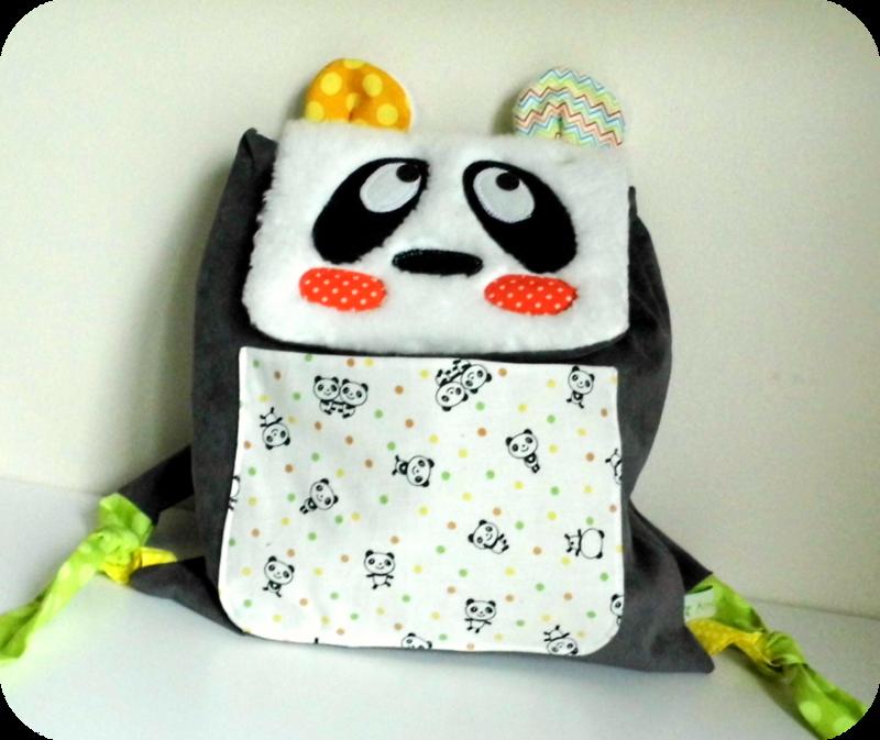 Sac à dos pour l'école maternelle Panda