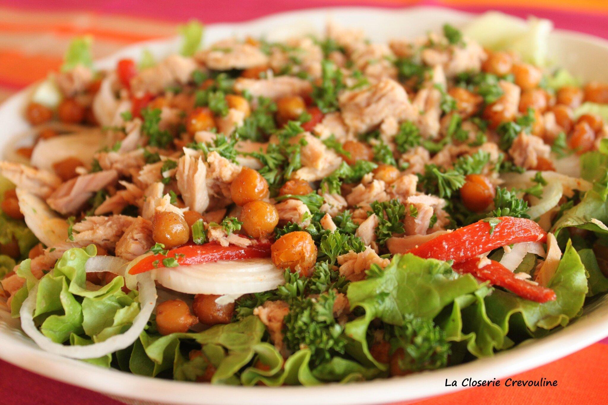 Salade composée espagnole au thon et aux piquillos - La ...