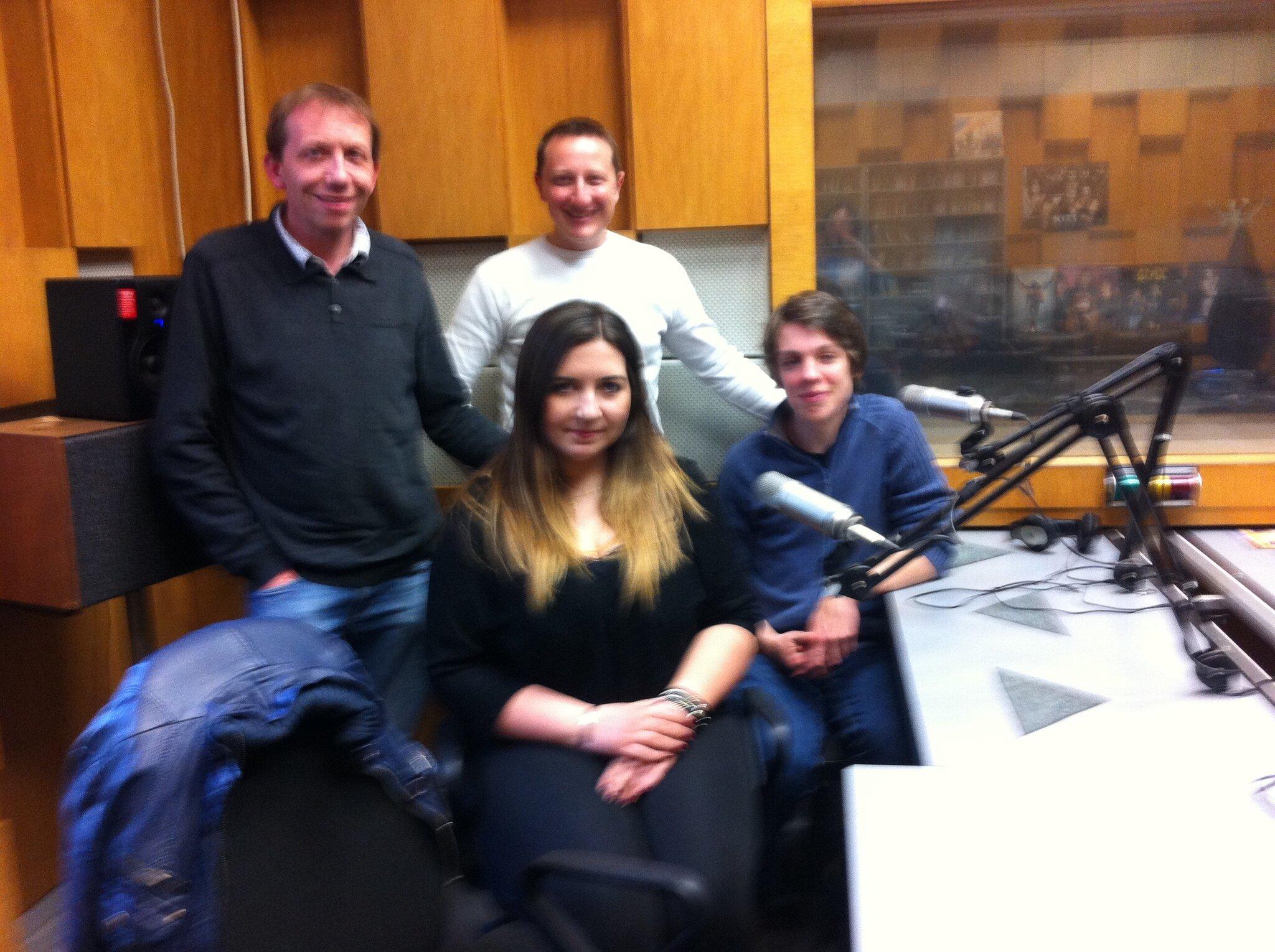 Studio de Radio Plovdiv - émission Club Dimanche