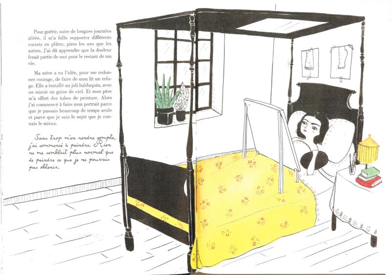 3° Frida Kahlo peint au lit