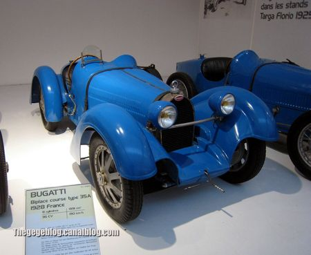 Bugatti type 35A biplace course de 1928 (Cité de l'Automobile Collection Schlumpf à Mulhouse) 01