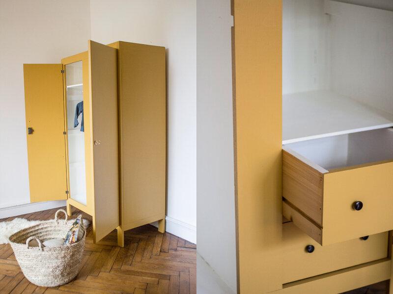 Armoire-parisienne-jaune-enfant-TRENDY-LITTLE