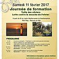 Journée de formation le 11 février 2017. lutte contre la mouche de l'olivier