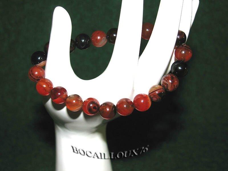Bracelet AGATE 3 Perles 8mm (5)