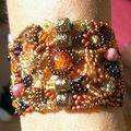 Bracelet free-form aux tons d'automne
