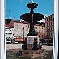Le Cheylard - fontaine de la place Saleon Terras