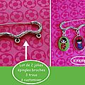 09 jolis épingles broches argentés