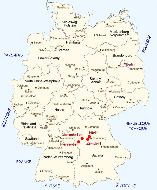 Carte Allemagne Implantation Geobra
