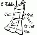 tablier a table