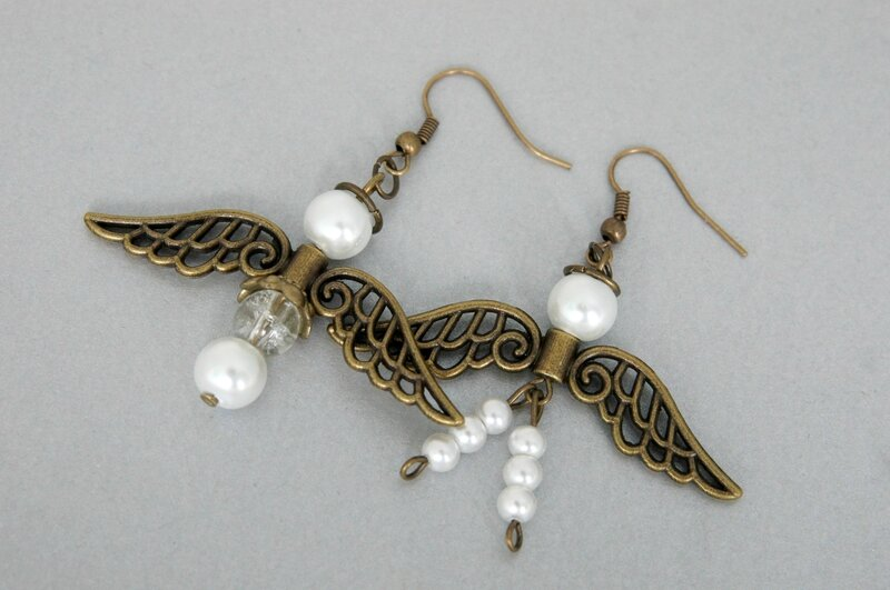 Boucles d'oreille anges