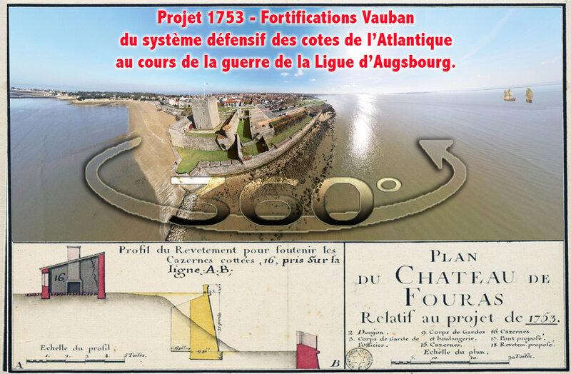 Projet 1753 - Fortifications Vauban du système défensif des cotes de 1'Atlantique au cours de la guerre de la Ligue d'Augsbourg
