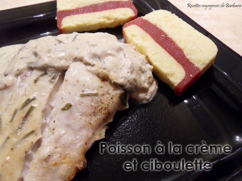 poisson à la crème et ciboulette