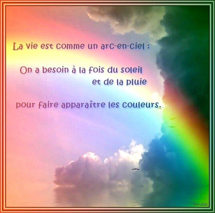 Citation La Vie Est Comme Un Arc En Ciel Mosaïques De