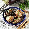 Recette au rice cooker #3 : poulet aux aubergines fondantes