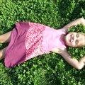 La petite robe trapèze. rose pour philomène