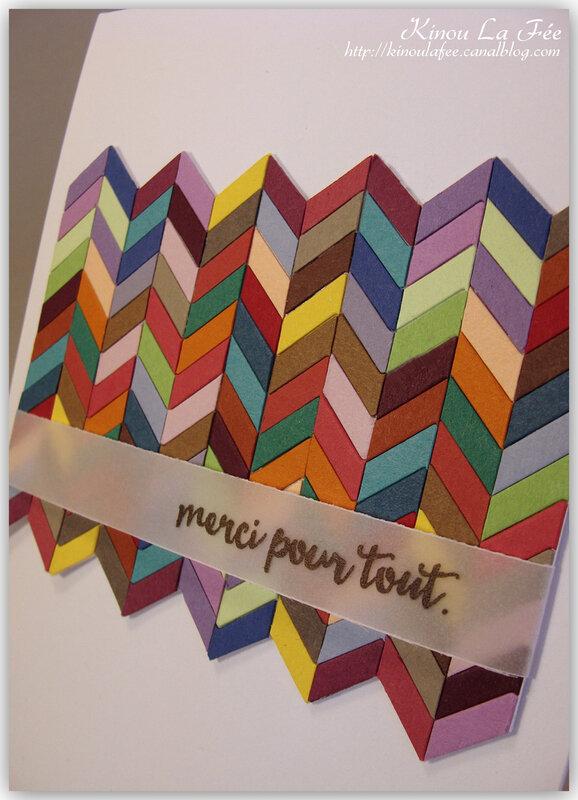 Carte chevrons multicolores 3