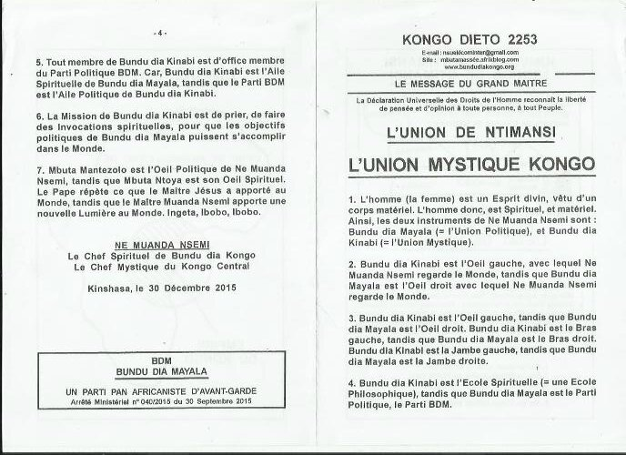 L'UNION MYSTIQUE KONGO a