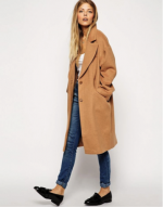 Long camel Coat Asos