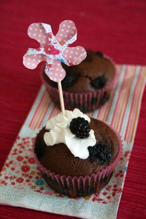 Muffins choco-Mûres poivre