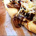 *pizza champignons & canard confit*