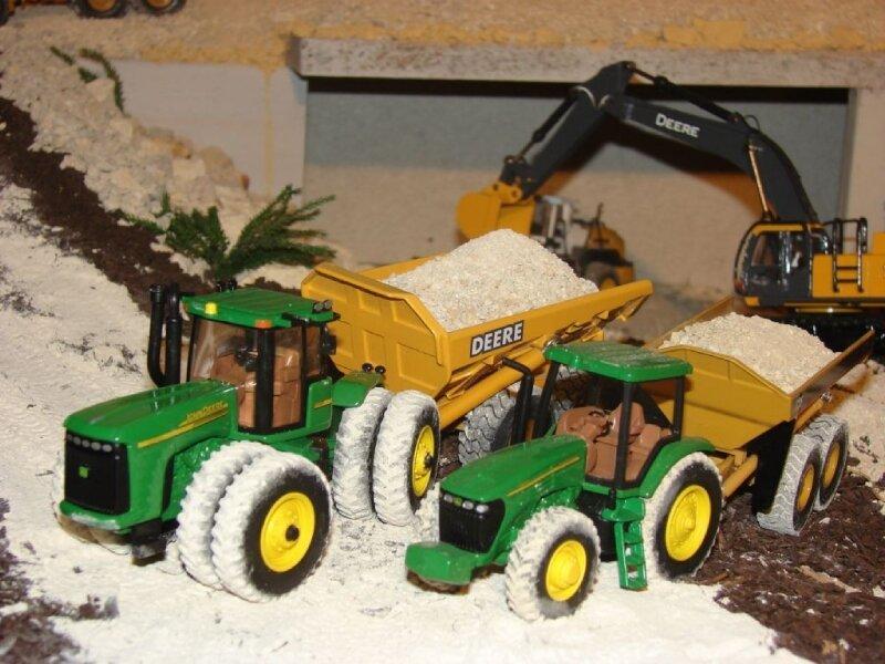 Tracteur John Deere 9620 et 7820