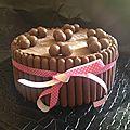 Entremet chocolat framboises (dessert pour les enfants réveillon du 31 décembre 2013)