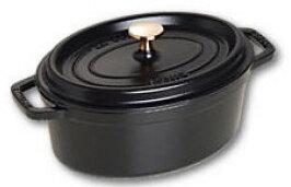 AZ BOUTIQUE cocotte-en-fonte-ovale-23-cm-noir-mat--b40