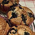 Blueberry muffins - muffins à la myrtille