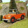 Land rover + remorque. dinky toys. #340,341. 1/40.