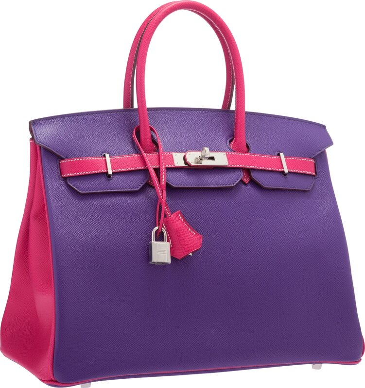622b94ae2c3f Hermès Special Order Horseshoe 35cm Crocus   Rose Tyrien Epsom Leather Birkin  Bag with Palladium Hardware. Estimate   18