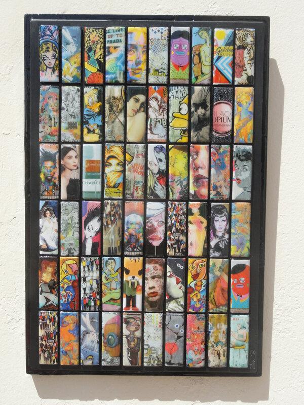 Tableau BD collage résine sur bois