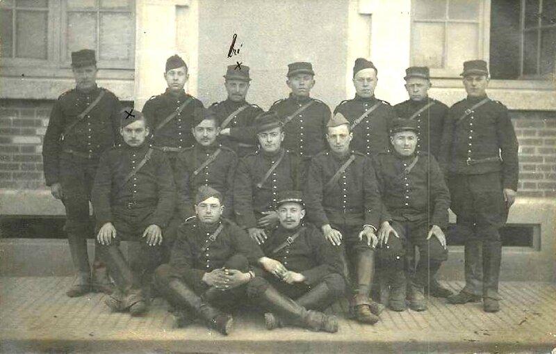 Caen, Quartier Claude Decaen, groupe de pièce du 43e RAC, 1915