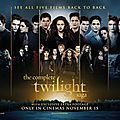 Premier poster regroupant les 5 films de la saga twilight