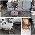 Ensemble fauteuils relookés