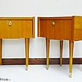 Petit mobilier ... paire de chevets * bernard et bianca