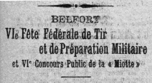 1912 05 26 Fête Fédérale Tir L'Alsace 1aR
