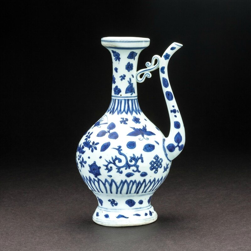 Chinese blue and white ewer made for the Islamic market, Jingdezhen, 16th century