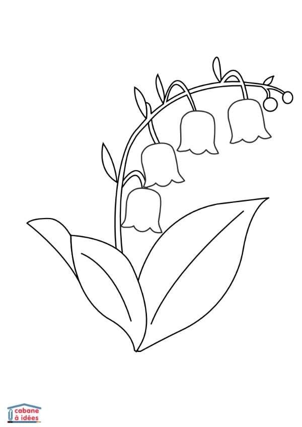 Coloriages muguet - Assistante Maternelle Argenteuil - Orgemont