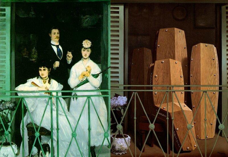 Le balcon de Manet-Magritte