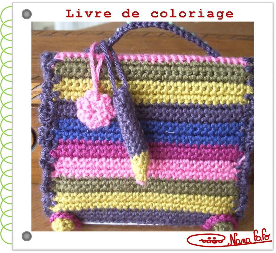 Livre coloriage crochet tuto