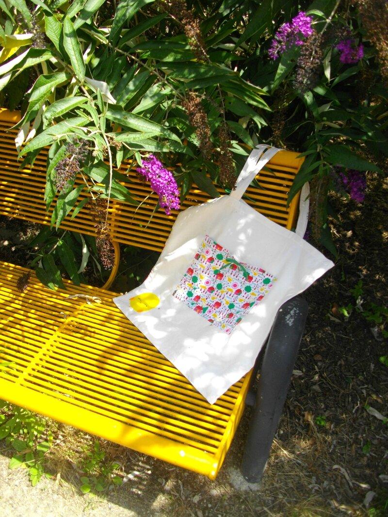 tote bag pour aller au marché tissu maison jardin
