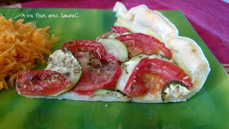 Tarte tomate courgette 1
