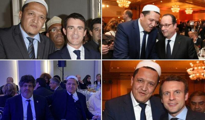 Chalghoumi-IslamPolitique-Valls-Hollande-Habib-Macron